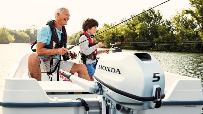 rundum glücklich mit Honda-Marine
