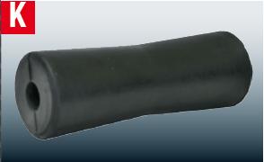 Kielrolle 69 x 197 mm, 21.5 mm Nabe