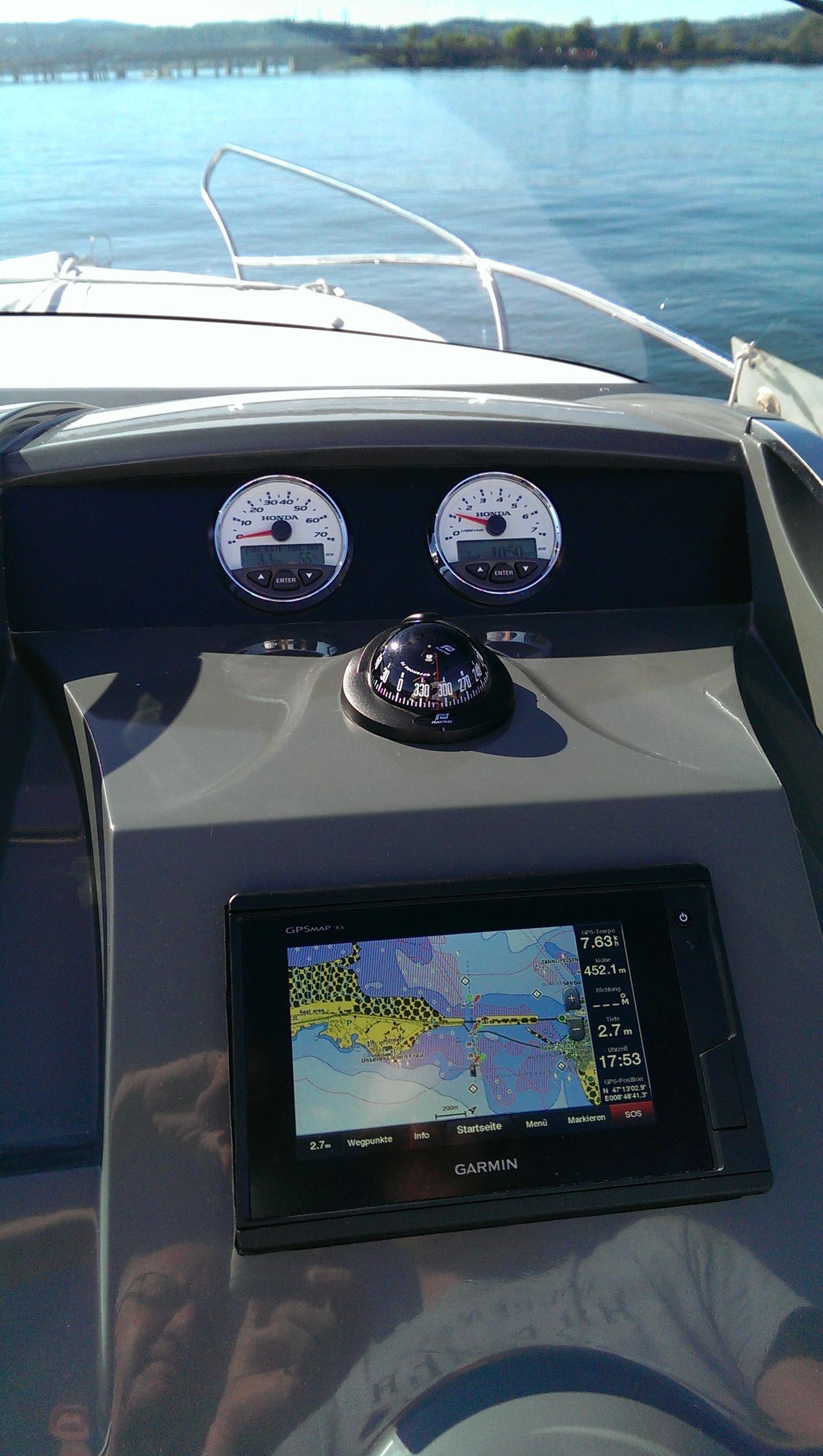 Galia 630 Sundeck Fahrersicht